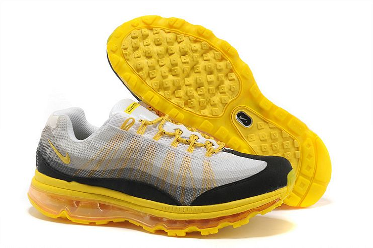 nouveau concept e763d 92d54 Pas cher Nike Air Max 95 DYN FW (M) blanc / gris-jaune-noir ...