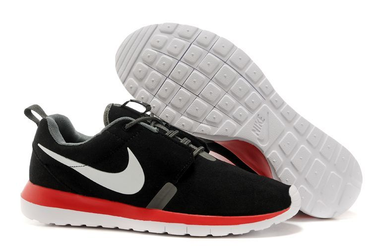 Nike Roshe Run Homme Noir Et Rouge